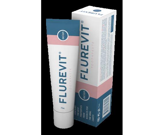 ЗУБНАЯ  ПАСТА  FLUREVIT Зубная паста Особенностью зубной пасты Flurevit, от компании Аклон - является ее неповторимый состав, не имеющий аналогов во всем Мире.В  составе зубной пасты Flurevit содержится два основных и мощных  натуральных компонента : фитонциды (вытяжка из иглы красной сосны,  прорастающей в Корее в заповедных зонах) и флуревит хитозан ( вытяжка из  панциря ракообразных)Свойства зубной пасты FLUREVIT:• Эффективно удаляет зубной налет• Очищает полость рта от болезнетворных микробов• Устраняет неприятный запах изо рта• оказывает легкое болеутоляющее действие• дезинфицирует и снимает воспаление десен• удаляет кровоточивость десен• ускоряют заживление ранок• незаменима для курильщиков (укрепляет мягкие ткани пародонта)• рекомендовано  для ежедневного ухода за полостью рта подросткам и взрослым, особенно  беременным, как эффективное средство, способствующее профилактике  воспалительных заболеваний пародонта.Способ применения:• достаточно одной капли пасты для очистки полости рта• использовать утром и вечером, а так же после принятия пищи.• Если  у вас есть кровотечение из десен или заболевание десен, используйте  зубную щетку с мягкой щетиной, после чего хорошо промыть полость рта.Произведено в Кореепо заказу ACLONЭксклюзивная формула ACLONВес. 75 гр.Срок годности 3 годаДата производства и срок годности указан на упаковке.